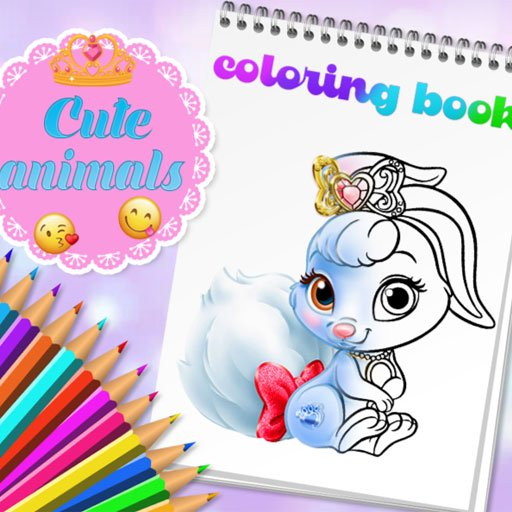 Cute Animals Coloring Book